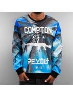 Thug Life Pullover Compton bleu