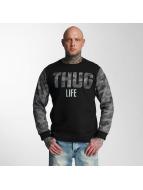 Thug Life Pullover Zombi gris