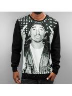Thug Life Pullover 2Pac noir