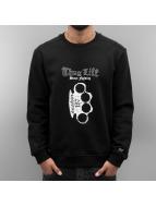 Thug Life Pullover Streetlife noir