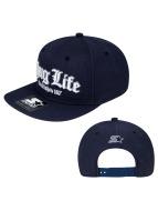 Thug Life Snapback Cap  blau
