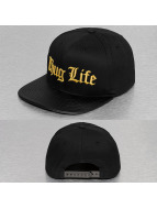 Thug Life Snapback Cap en Logo schwarz