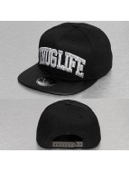 Thug Life Snapback Cap Silver Logo schwarz