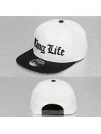 Thug Life Snapback Cap Black Logo weiß