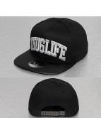 Thug Life snapback cap Silver Logo zwart