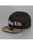 Thug Life Snapback Caps White Logo czarny