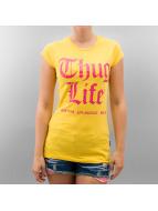 Thug Life T-paidat Logo Print keltainen