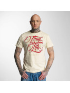 Thug Life T-Shirt Skull beige