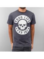 Thug Life T-Shirt Logo grau