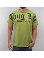 Thug Life t-shirt Est. 187 olijfgroen