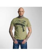 Thug Life t-shirt No Reason olijfgroen