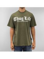 Thug Life T-Shirt Born On The Street olive