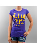 Thug Life T-Shirt Logo Print violet