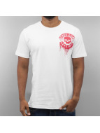 Thug Life T-Shirt Small Logo Print weiß