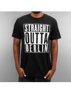 Thug Life T-Shirty Straight Outta Berlin czarny