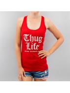 Thug Life Tank Tops NY Los Angeles Berlin красный