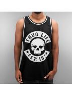 Thug Life Tank Tops Skull musta