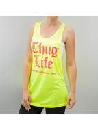 Thug Life Tanktop Logo-Print geel