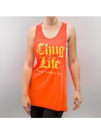 Thug Life Tanktop Logo-Print oranje