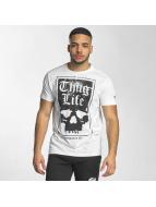 Thug Life Tričká Established 187 biela
