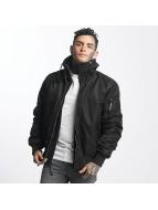 Thug Life Manchester Hooded Jacket Black/Black