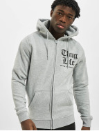 Thug Life Zip Hoodie Chest Cities grau
