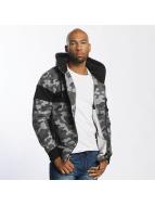 Thug Life Bar Zip Hoody Black Camouflage