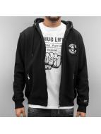 Thug Life Zip Hoodie Base Est svart