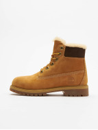 Timberland 6 In Premium Waterproof Shearling Lined Boots Wheat Nubuck