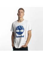 Timberland T-Shirt Linear Basic Stacked blanc