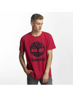 Timberland T-Shirt Linear Basic Stacked rouge