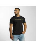 Timberland T-Shirt Dustan River Camo Print Brand schwarz