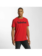 Timberland T-Shirts Lin Logo kırmızı