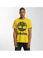 Timberland T-Shirts Big Logo sarı