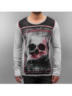 trueprodigy T-Shirt manches longues Skull gris