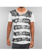 trueprodigy T-Shirts Stripe Printed gri