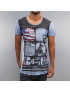 trueprodigy T-Shirty Inside Oiled Washed niebieski