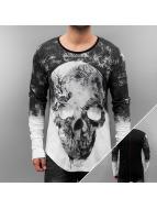 trueprodigy Tričká dlhý rukáv Skull èierna