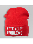 TrueSpin Beanie Fuck Your Problems rood