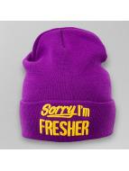 TrueSpin Beanie Sorry I'm Fresher violet