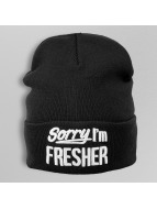 TrueSpin Beanie Sorry I'm Fresher zwart