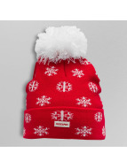 TrueSpin Bonnet hiver Flakes Pom rouge
