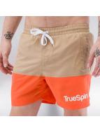 TrueSpin Kúpacie šortky Swimming hnedá