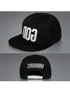 TrueSpin snapback cap God zwart