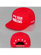 TrueSpin Snapback Caps Fuck Your Problems red