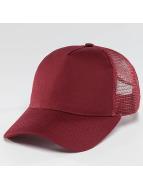 TrueSpin Trucker Caps Blank Round Visor red