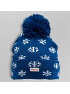 TrueSpin Wintermütze Flakes Pom blau