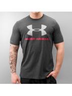 Under Armour Футболка Charged Cotton Sportstyle Logo черный