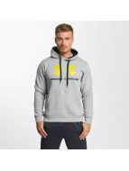 Under Armour Rival Fitted Graphic Hoody True Gray Heather/Black/Smash Yellow