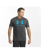 Under Armour T-paidat Charged Cotton Sportstyle Logo harmaa